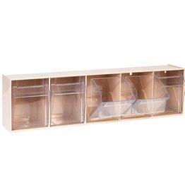 Medische Vakhandel Aufbewahrungsbox für Spritzen und Nadeln, klein, beige, 5 Fäche