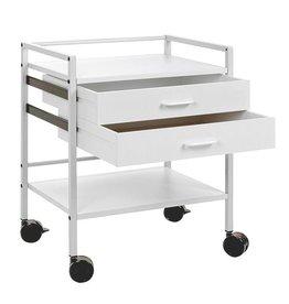 Medische Vakhandel Instrument table with 1 drawer - Gray white