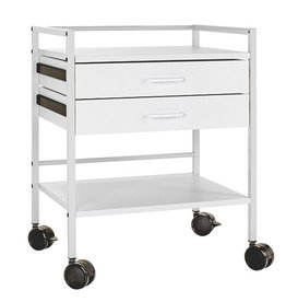Medische Vakhandel Instrument table with 2 drawers - Chrome