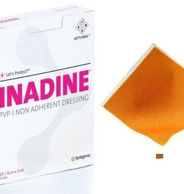 Medische Vakhandel Inadine (povidonjodium) zalfgaas 5,0 x 5,0 cm 25 stuks