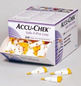 Medische Vakhandel Accu Chek Safe-T-Pro Uno lancetten 200 stuks