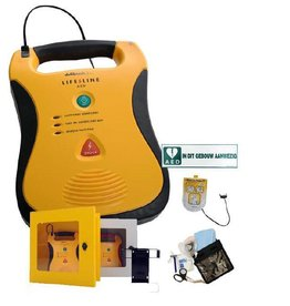 Defibtech Lifeline AED Sale + AED cabinet