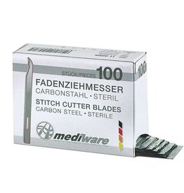 Medische Vakhandel Mediware Fadenziehmesser kurz 6,5 cm, 100 + 2 Stück