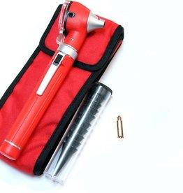 Medische Vakhandel Mini-Otoskop Fiber Optik, rot