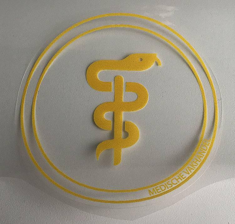 Medische Vakhandel Äskulap Aufkleber für Apotheker