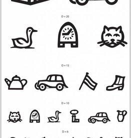 Medische Vakhandel Snellen chart with symbols for children