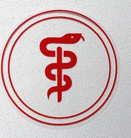 Medische Vakhandel Äskulap Aufkleber für Ärzte