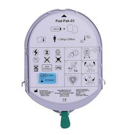 HeartSine AED-Elektroden und Batterien in einer Einweg-Kassette: Pad-Pak