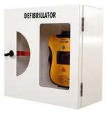 Defibtech AED Wandkast wit met breekglas alarm