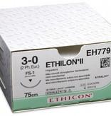 Ethilon Ethilon II USP 3/0, 75 cm, FS1, blau EH7795H, 36 Stück