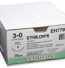 Ethicon Ethilon II usp 3-0 45cm FS-2 blue EH7792H 6x1