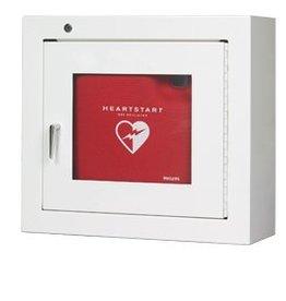 Medische Vakhandel Philips AED Wandschrank aus Stahl mit Alarm, weiß