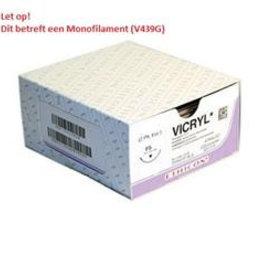 Ethicon Vicryl MONO usp9/0 30cm GS-9 violet V439G, 12x1