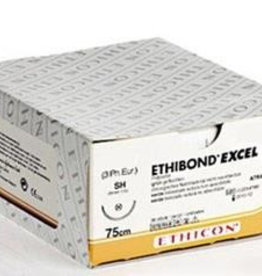 Ethicon Ethibond Excel USP 2/0, 75 cm, V-37 grün 869G, 12 Stück