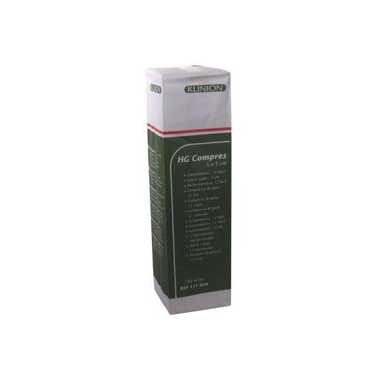 Klinion Klinion Compress HG Mullkompressen, 5 x 5 cm,  12-lagig, 100 Stück, 111028