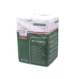 Klinion Klinion hg hydrofiel gaaskompres 10x10 cm 8 lagen  100 x 1 st 111098