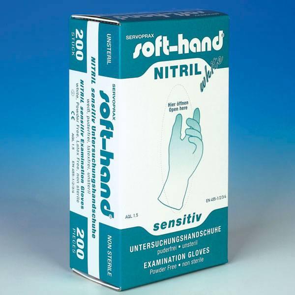 Medische Vakhandel  Soft-Hand Nitril White Sensitive 200 stuks