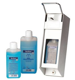 Servoprax Soap and disinfection dispenser - aluminium - 500 ml