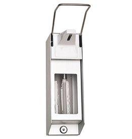 Servoprax Soap and disinfection dispenser aluminium - 1000 ml