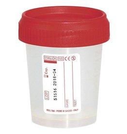 Servoprax Urinebeker met schroefdeksel - 60ml - 500 stuks