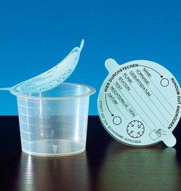 Servoprax Urinbecher mit Klebedeckel, 120 ml - 1000 Stück