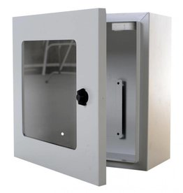 Defibtech AED Wandkast grijs met alarm
