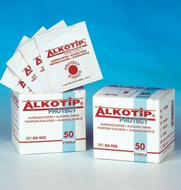 Servoprax Alkotip Protect Alkoholtupfer - steril - 50 Stück