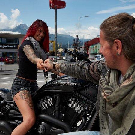 """scull-art Biker scarf """"Dream Catcher"""" good luck charm"""