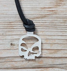scull-art Leather necklace