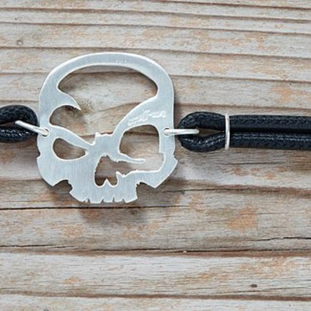 "scull-art Armband ""Duo"" aus 925er Sterling-Silber"