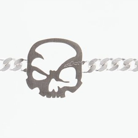 """scull-art Bracelet """"Curb Chain"""" 925 sterling silver"""