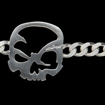 "scull-art bracelet ""Curb Chain"""