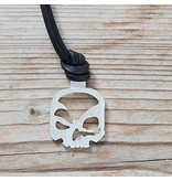 scull-art Key fob made of 925 sterling silver