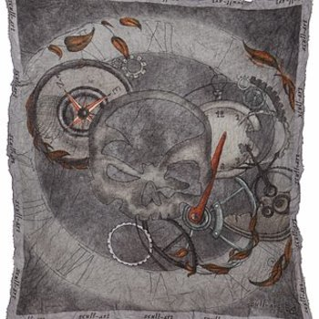 """scull-art Scarf """"Time"""""""