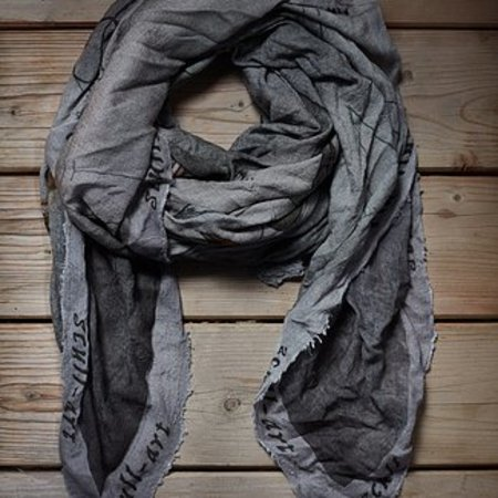 """scull-art Scarf """"Time"""" good luck charm for bikers"""