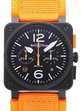 Julius Hampl 1884 Timepieces Bell & Ross Carbon Orange