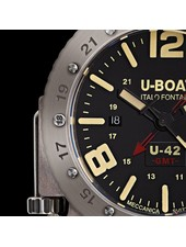 Julius Hampl 1884 Timepieces U-Boat U-42 BK RD GMT