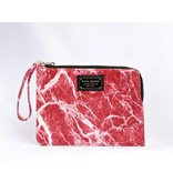Ron Maro Clutch Marble Red