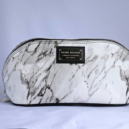 Ron Maro Cosmetic Bag Marble White