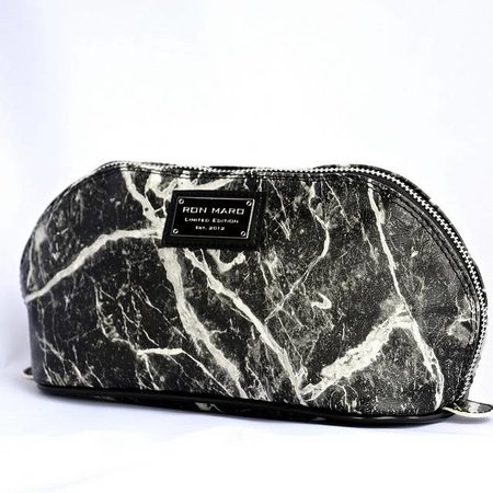 Ron Maro Cosmetic Bag Marble Black