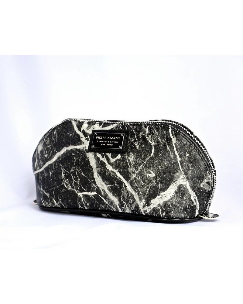 Ron Maro Cosmetic Bag Marble Black