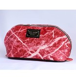 Ron Maro Cosmetic Bag Marble Red