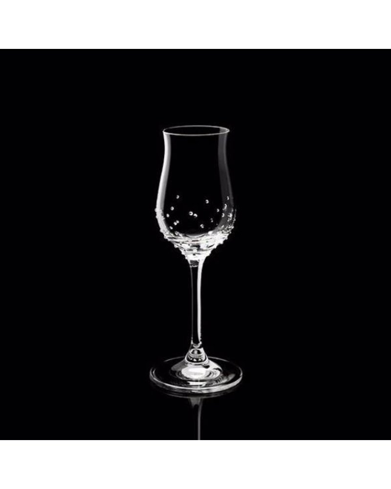 Luxor Crystal  LIQUOR: Digestiveglas 2er-Set mit 150 Kristallen.