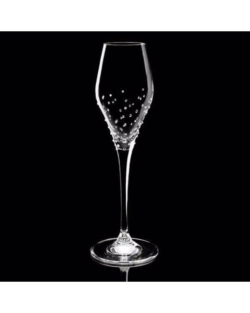 Luxor Crystal  TULIP: Champagnerglas 2er-Set veredelt mit 150 Kristallen
