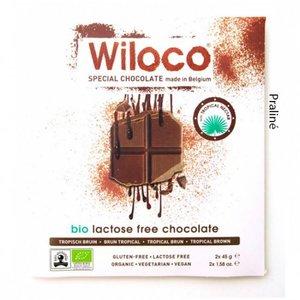 Wiloco Lactosevrije Chocoladereep 'Melk' met Praline 90g