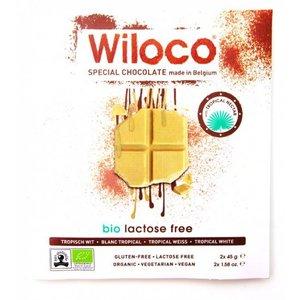 Wiloco Lactosevrije Chocoladereep 'Wit' 90g