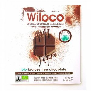 Wiloco Lactosevrije Chocoladereep  'Melk' 90g