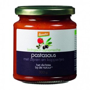 Demeter Pastasaus met olijven en kappertjes 300g