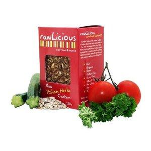rawLicious Italian Herb Crackers biologisch en rauw ca. 150g