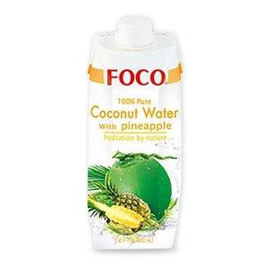 Foco Kokoswater - 100% Puur - Ananas 330ml